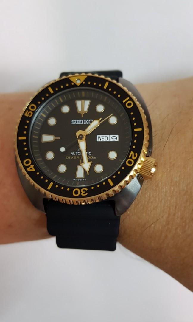 Seiko turtle Black/Gold