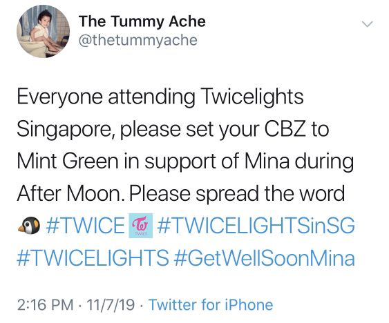 In support of Mina
