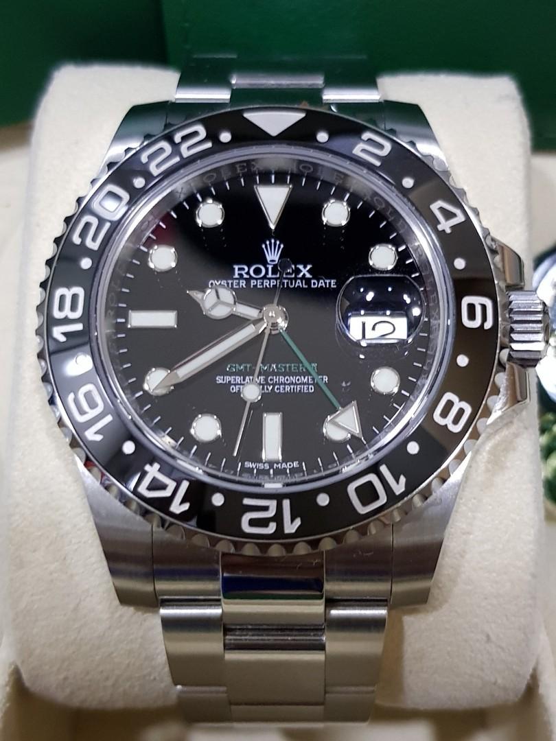 ROLEX LNIB GMT MASTER 2 REF 116710LN