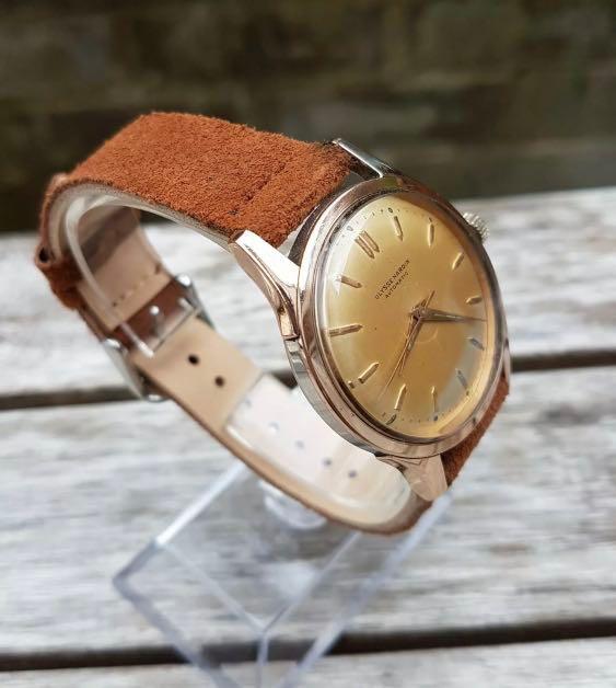 Ulysse Nardin Champagne dial 35mm Vintage RG Rose Gold Plated Lugs