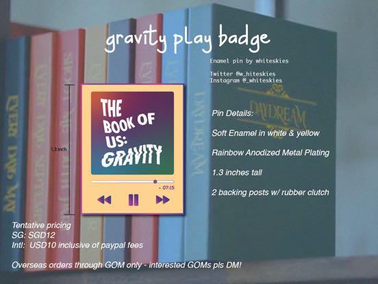 Day6 Gravity Enamel Pin