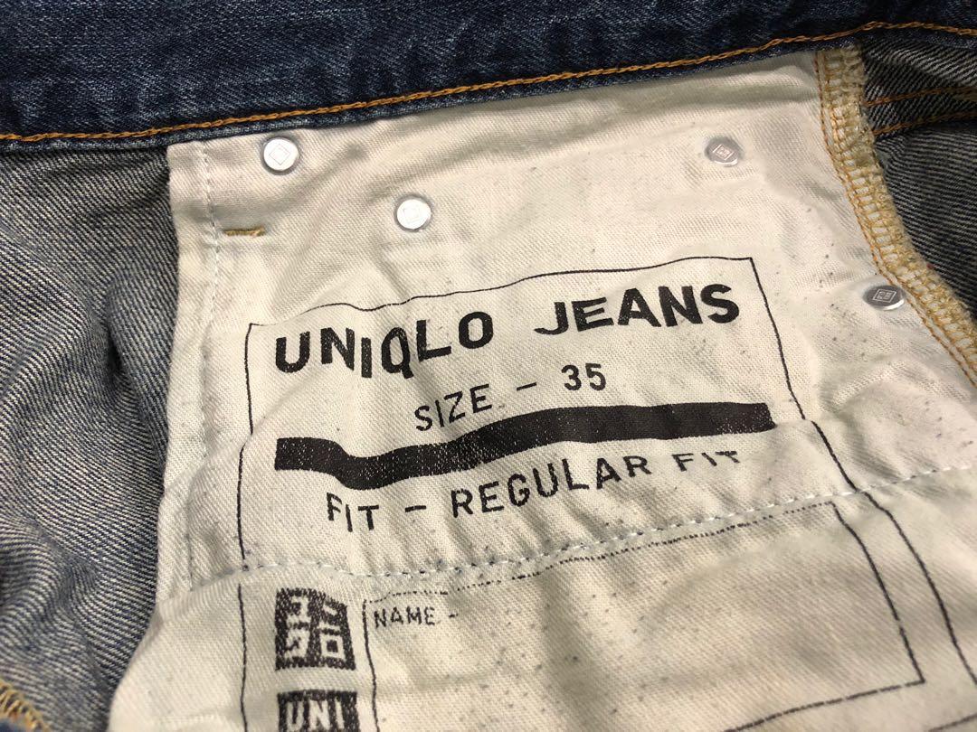 Uniqlo denim men long pants size 35 $14