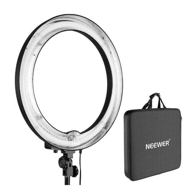 Neewer 75W 5500K Camera Photo Ring Fluorescent Flash Light