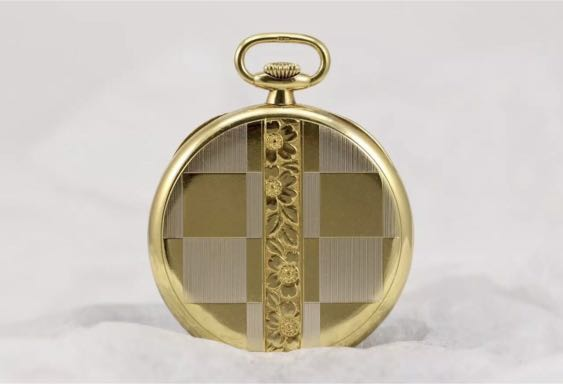 Authentic Patek Philippe 18K Carat Solid Yellow Gold Pocket Watch Art Deco Rare Highly Collectible
