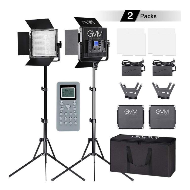GVM , Video Light Kit Set, Pack of 2