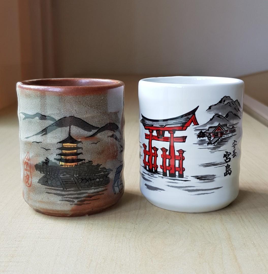 Scenic Japan Ceramic Cups