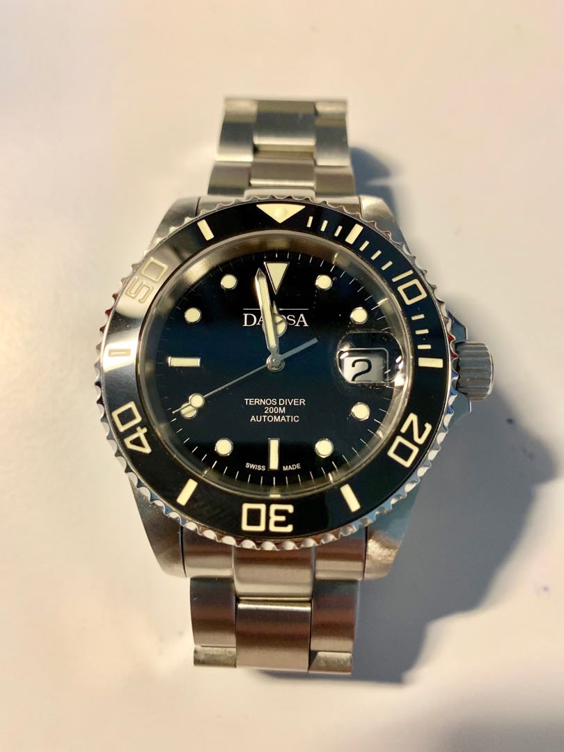 Authentic Davosa Ternos Diver with Date and cyclops lens ceramic bezel