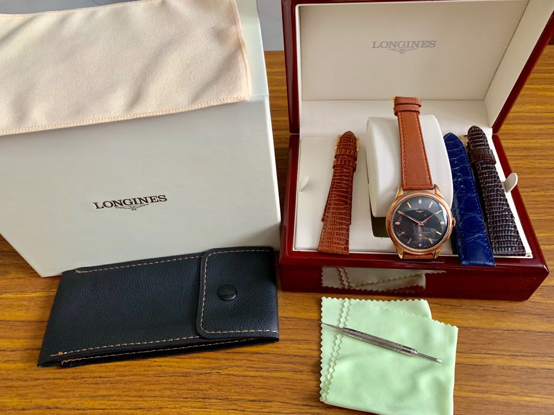 Authentic Longines 12.68z calibre Rose Gold Plated