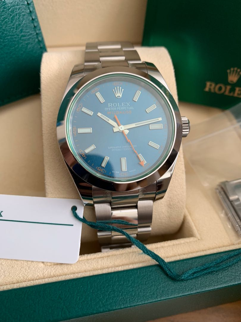 Authentic Rolex Milgauss Z Blue 116400GV
