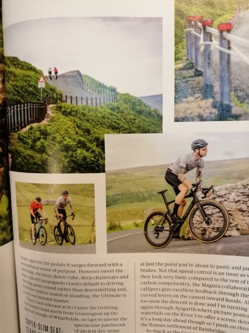 nice photos in a bicycle magazine