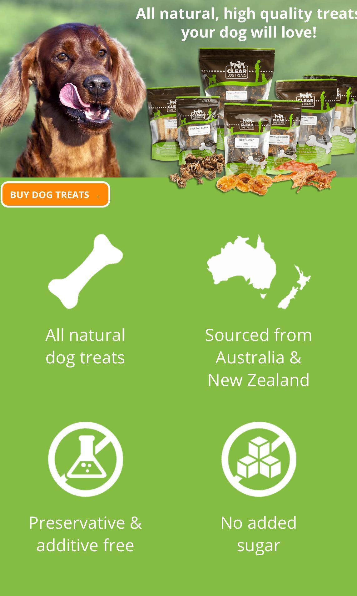 Buying Back From Australia - Clear Dog Treats Bulk