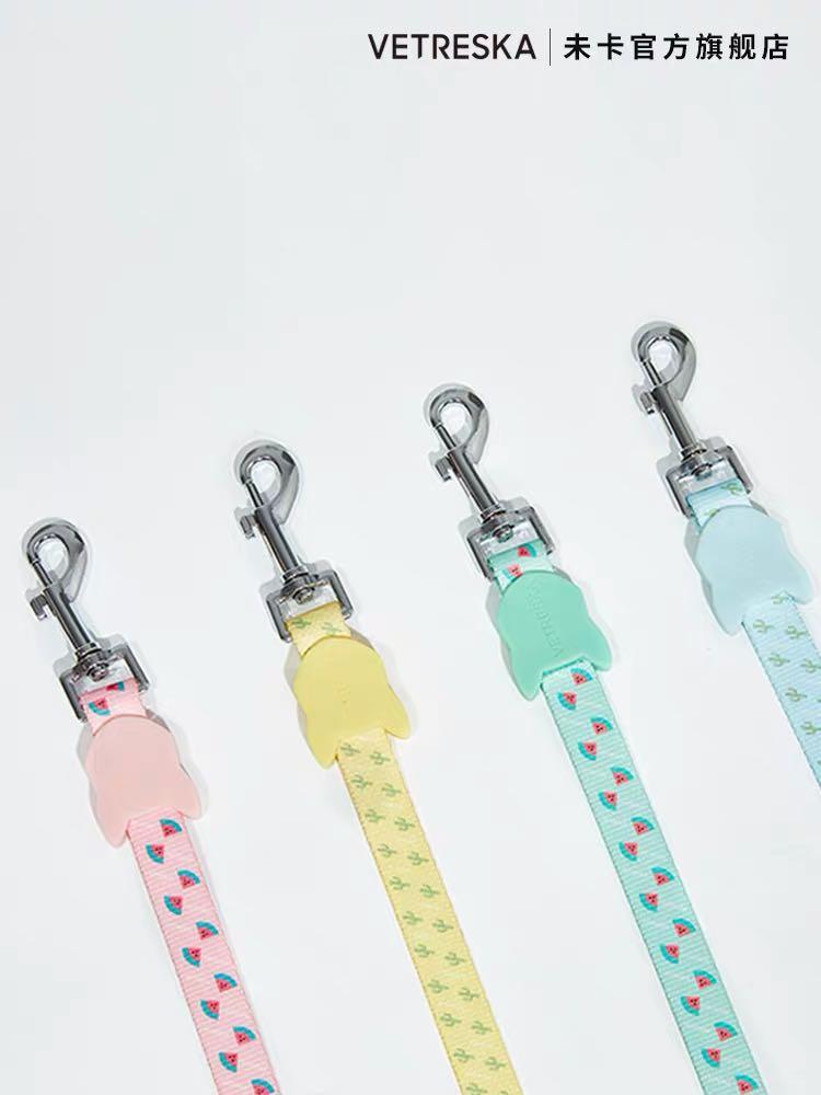 Pastel colours dog collar & leash